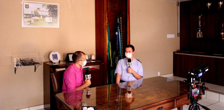 CPORAER – SJ recebe equipe de TV para entrevista com aluno do EPOE - 1